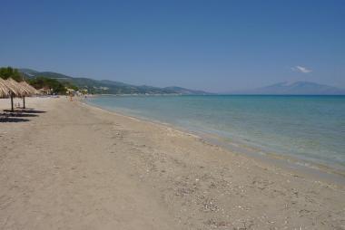 Pohled na pláž ostrova Zakynthos
