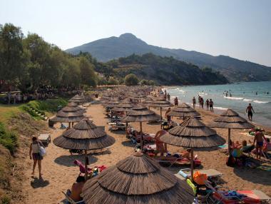 Ostrov Zakynthos s pláží Porto Zoro